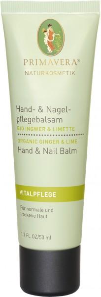 Hand- & Nagelpflegebalsam Bio Ingwer & Limette 50 ml