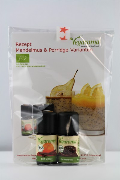 Geschenkset* bio Vegaroma Mandelmus & Porridge-Varianten