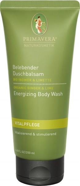 Belebender Duschbalsam mit Bio Ingwer & Limette 200 ml