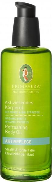 Aktivierendes Körperöl Bio Minze & Bio Zypresse 100 ml