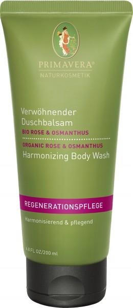 Verwöhnender Duschbalsam Bio Rose & Osmanthus 200 ml