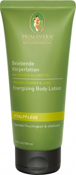 Belebende Körperlotion Bio Ingwer & Limette 200 ml