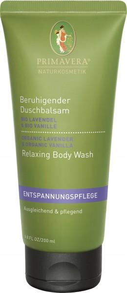 Beruhigender Duschbalsam Bio Lavendel & Bio Vanille 200 ml