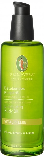 Belebendes Körperöl Bio Ingwer & Limette 100 ml