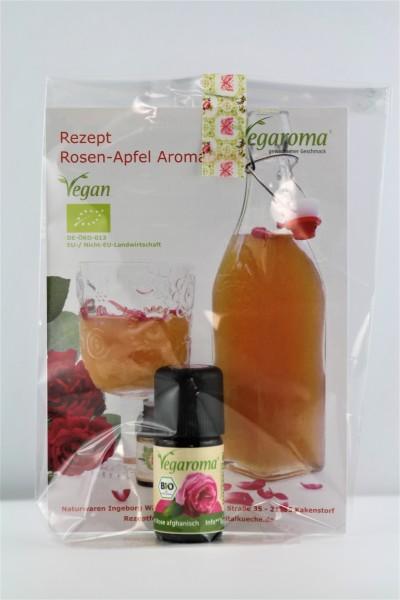 Geschenkset* bio Vegaroma Rosen-Apfel Aromadrink