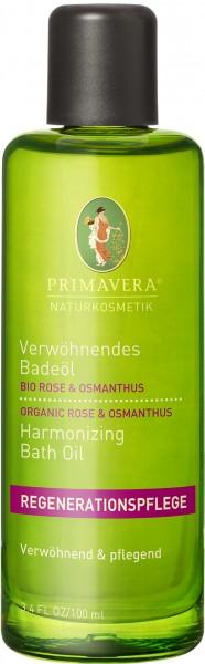 Verwöhnendes Badeöl Bio Rose & Osmanthus 100 ml