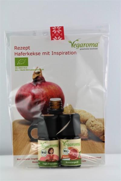 Geschenkset* bio Vegaroma Haferkekse mit Inspiration